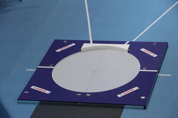 Polanik Hallenabwurfring mit Abstoßbalken für Kugelstoßen