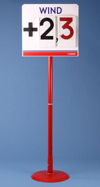 Anzeigetafel für Windgeschwindigkeit