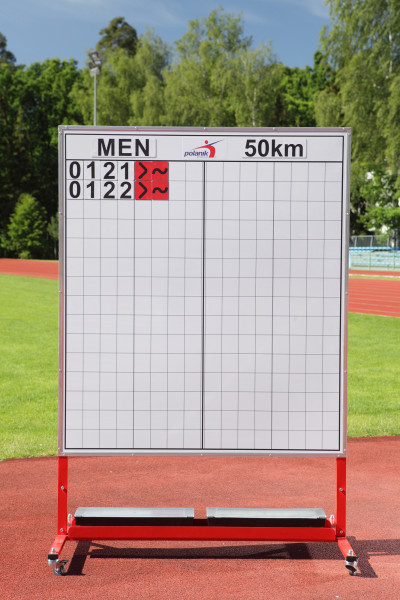 Magnettafel für Gehwettbewerbe