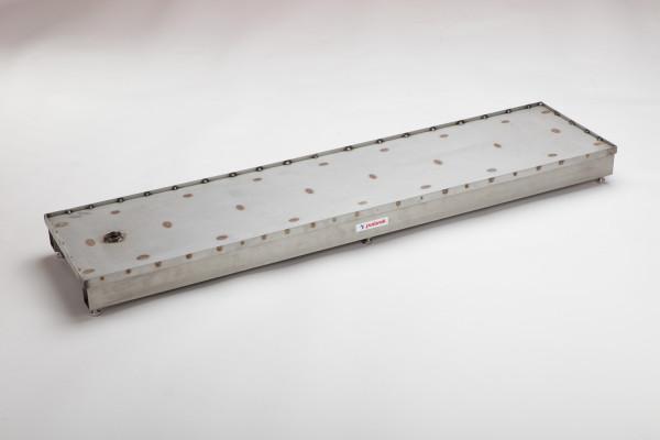 Polanik Blindbalken aus Edelstahl - 122 x 30 cm - mit Beschichtungseinfassung